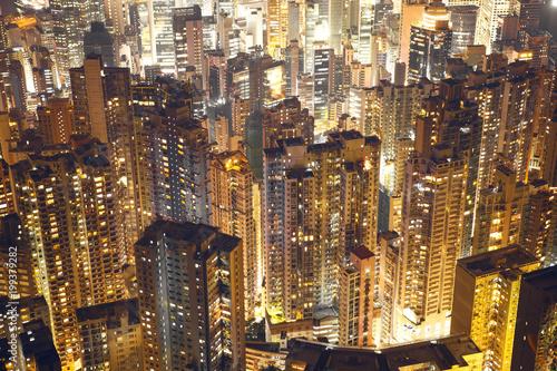 Budynki zatłoczone w mieście