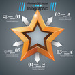 3d realistic icon. Business infographic. Vector eps 10