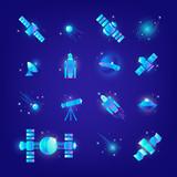 Space elements UI style © svetabelaya