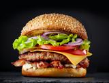 fresh tasty burger - 199394049