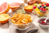 cornflakes and fruits