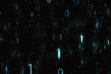 Digital shiny computer binary numbers copy space illustration background. - 199398662