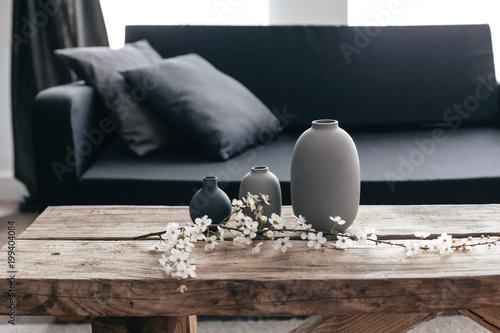 Home decor in scandinavian interior
