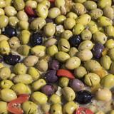fresh olives at the market
