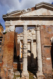 Porticus Octaviae ancient ruins in the historic center of Rome - 199408275