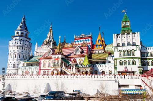 Foto op Plexiglas Moskou Stunning architecture of Izmailovo Kremlin in Moscow, Russia.