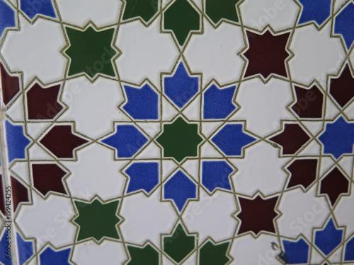 Foto Murales Colorful wall tile mosaic
