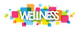WELLNESS Vector Letters Collage - 199435822
