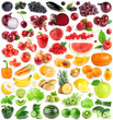 Collection of fruits and vegetables