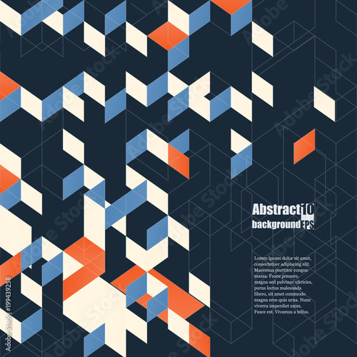 Graphic illustration. Abstract background with geometric pattern. Eps10 Vector illustration - 199439258