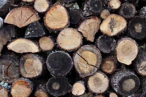 Foto op Aluminium Brandhout textuur bois de chauffage