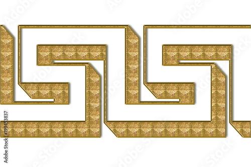 Mozaika w formie labiryntu.