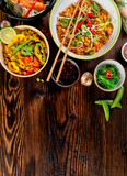 Asian food variation with many kinds of meals. Top view - 199459022