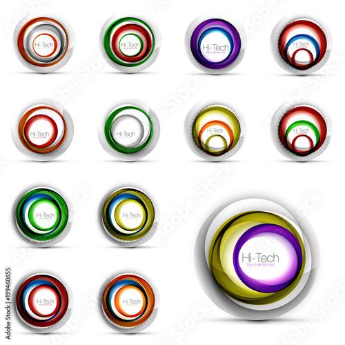 Set of vector swirl geometric icons © antishock
