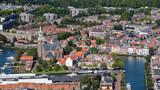 City centre of and church of Maassluis, Zuid-Holland, The Netherlands