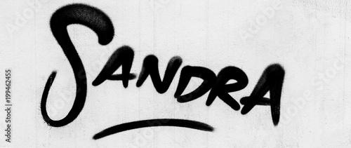 Fotobehang Graffiti Sandra Style Writing