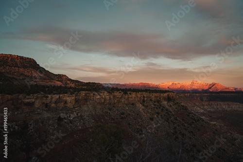 Foto op Aluminium Grijze traf. Utah Sunset