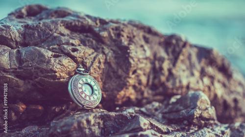 Poster Aubergine Vintage Watch Pendant