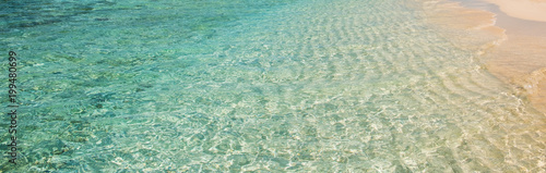 clear ocean water at beach - turquoise water vacation background