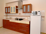 Fragment of an interior of kitchen with household appliances - 199487299