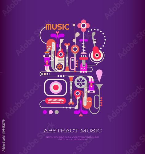 Plexiglas Abstractie Art Abstract Music Art