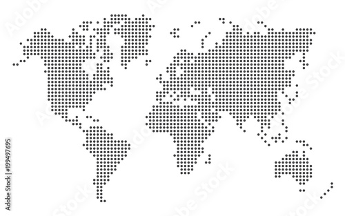 Dotted World Map - 199497695
