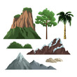 Set on nature elements isolated vector illustration graphic design