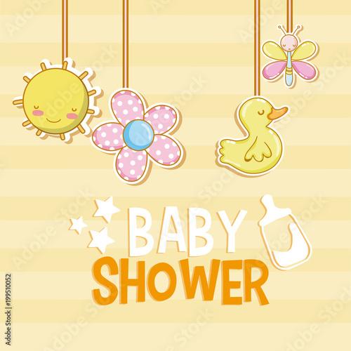 Baby shower card cartoons - 199510052