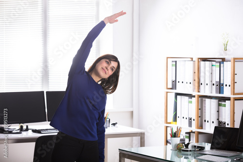 Businesswoman Doing Exercise