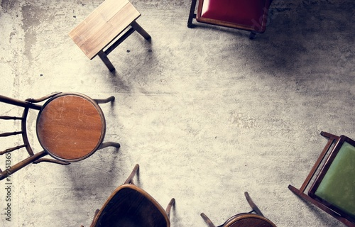 Foto Murales classic wooden chairs
