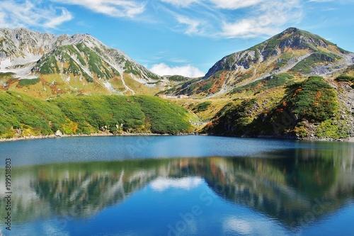 Fotobehang Blauw 立山とみくりが池