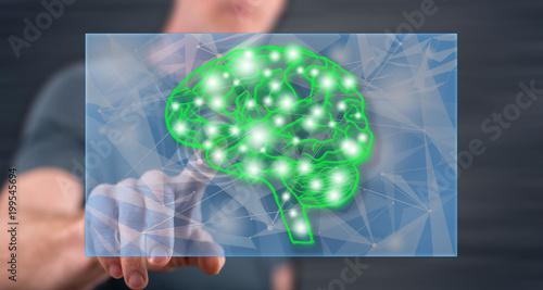 Człowiek, dotykając pojęcie inteligencji