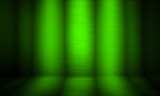 green metal interior with spotlight background