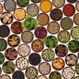 Selection of cooking ingredients - flavor and seasoning poster