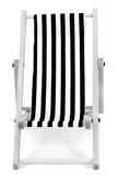mini chaise-longue, transat, chilienne en noir et blanc