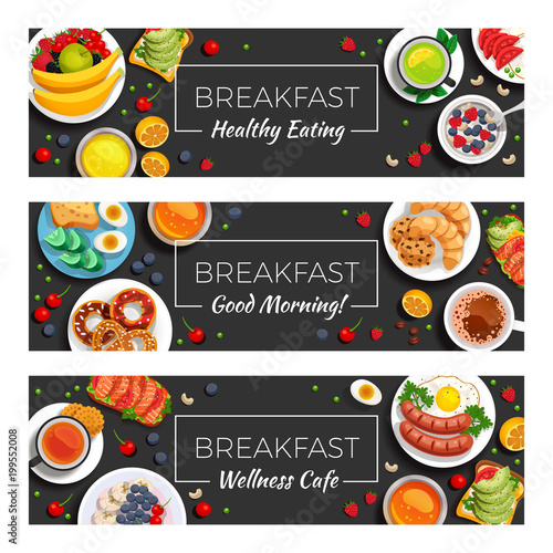 Breakfast  Horizontal Banners - 199552008