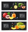 Tropical Fruits Horizontal Banners