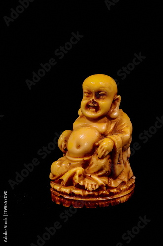 Fotobehang Boeddha Oriental Buddist Statue Isolated