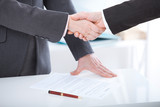 Business handshake. Business handshake and business people concept. - 199559284