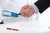 Business handshake close up. Business people concept. - 199559461