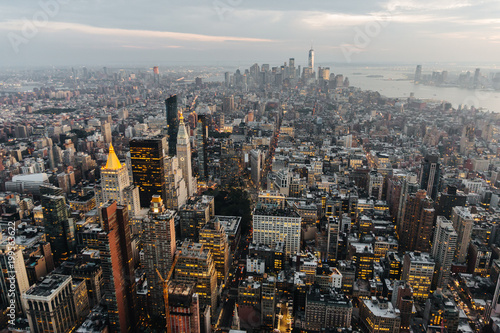 Foto op Plexiglas New York New York City Skyline at dusk