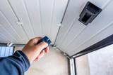 Garage door PVC. Hand use remote controller for closing and opening garage door - 199567000