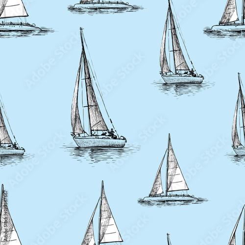 Wzór żeglowania jachtów w morzu