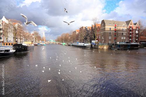 Fotobehang Amsterdam Beautiful Amsterdam, Holland