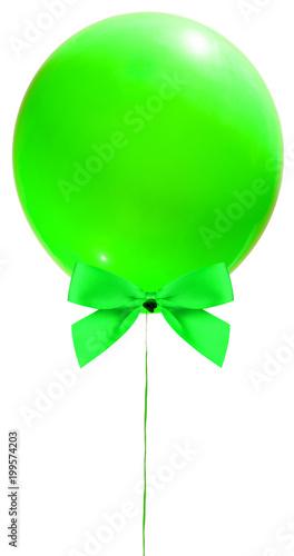 ballon vert et noeud papillon vert  - 199574203