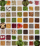 Selection of Herbs and Spices poster