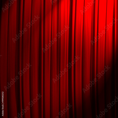 red curtain background - 199580252