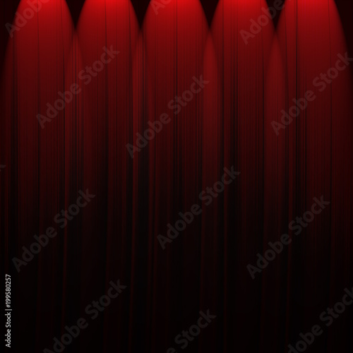 red curtain background - 199580257