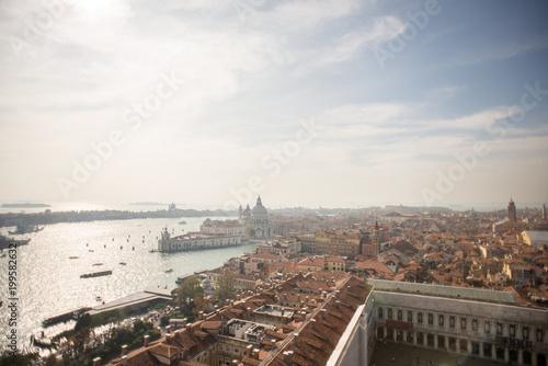 Foto op Plexiglas Venetie Venice. Aerial view of the Venice with Basilica di Santa Maria della Salute