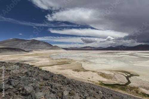 Keuken foto achterwand Beige Aguascalientes Saline, Red stones (Piedras Rojas), Atacama, Chile